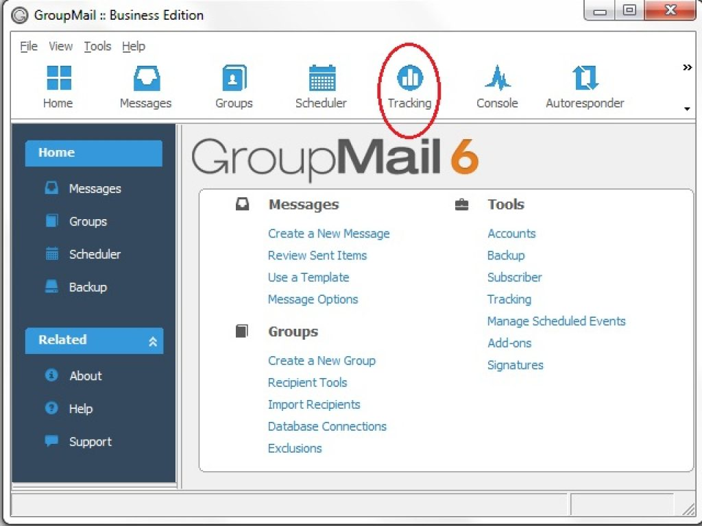 GroupMail features